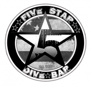 TWO Dinner + Comedy Show Certificates at Five Star Dive Bar for the price of ONE